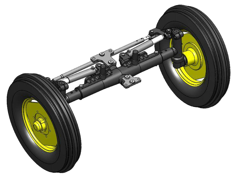 Front Axel 2W of oroojloo tractor